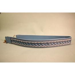 Skinnhalsband  Ljusblå - Dekorband - 25 cm