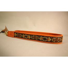Skinnhalsband  Orange - Dekorband - 20 cm