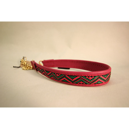 Skinnhalsband  Röd - Dekorband - 25 cm