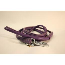 Läderkoppel Rundsytt - Lila - 60 cm