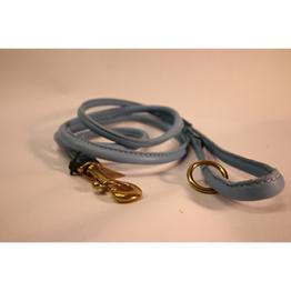 Läderkoppel Rundsytt - Ljusblått - 1,5m
