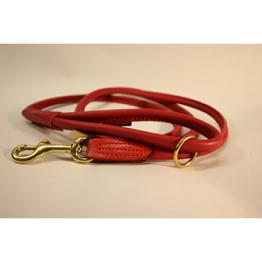 Läderkoppel Rundsytt - Röd - 60 cm