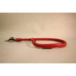 Skinnhalsband - Röd - 35cm