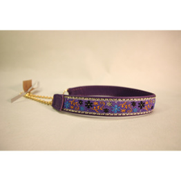 Skinnhalsband Lila - Dekorband - 20 cm