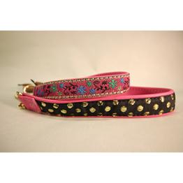 Skinnhalsband Rosa - Dekorband - 20 cm
