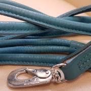 Läderkoppel Rundsytt - Ljusblått