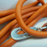 Läderkoppel Rundsytt - Orange