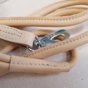 Läderkoppel Rundsytt - Beige