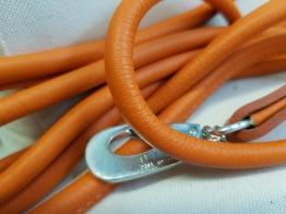 Läderkoppel Rundsytt - Orange - 1,8
