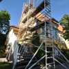 Djup 140 cm byggställning | Höjd 4,2 meter | 1 vecka