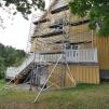 Djup 140 cm byggställning | Höjd 8,2 meter | 1 vecka
