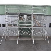 Fasadställning på hjul, 3,7 x 5,5 meter - Gratis Montering, Leverans & Upphämtning
