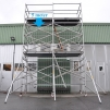 Fasadställning på hjul, 5 x 3,8 meter - Gratis Montering, Leverans & Upphämtning