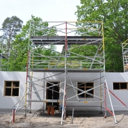 Byggställning för att resa hus, hyra byggnadsställning Stockholm (6)