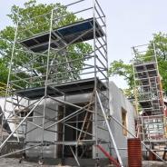 Byggställning för att resa hus, hyra byggnadsställning Stockholm (7)