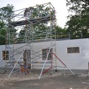 Byggställning för att resa hus, hyra byggnadsställning Stockholm