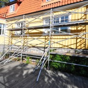 Smal byggställning - 2,2 x 5-10 meter