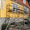 Smal byggställning - 4,2 x 5-10 meter