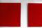 Minnet av rött, diptyk bildväv (foto Henrik Rosenqvist)