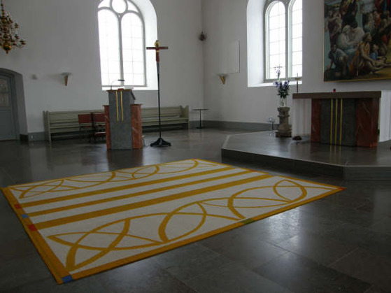 Kormatta, Ryssby kyrka. Rockneby, Kalmar. Foto: Åsa Jonason