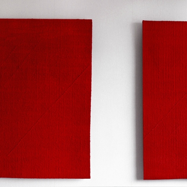 Minnet av rött, diptyk (foto: Åsa Jonason)