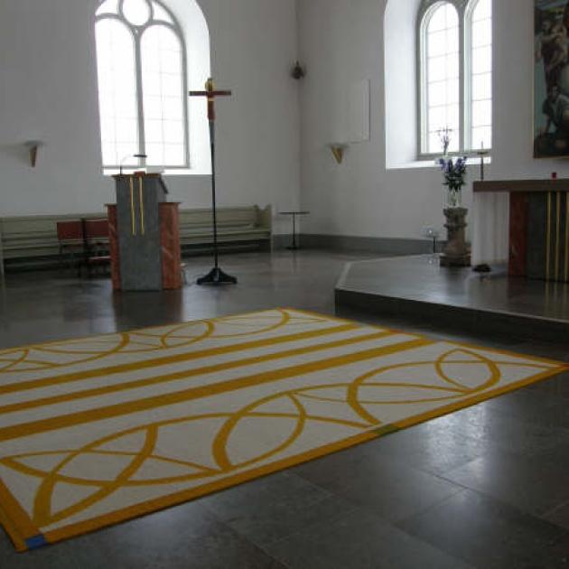 Kormatta, Ryssby kyrka, Rockneby, röllakan/ull 300x340 cm (foto: Åsa Jonasn)