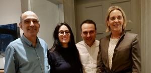 Hasti Asadi, founder Deodoc, Thierry Dauphin, Dany Ishak och jag