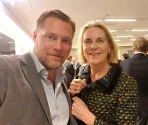 Med Günther Mårder, vice ordförande i styrelsen