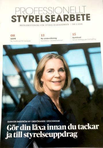 Artikel i Styrelseakademiens tidning Professionellt Styrelsearbete