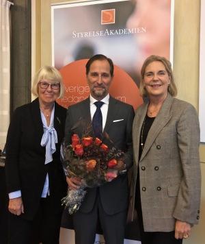 Agneta Dreber, styrelsledamot i StyrelseakademienStocckholm, Erik Fröberg, Gunvor Engström