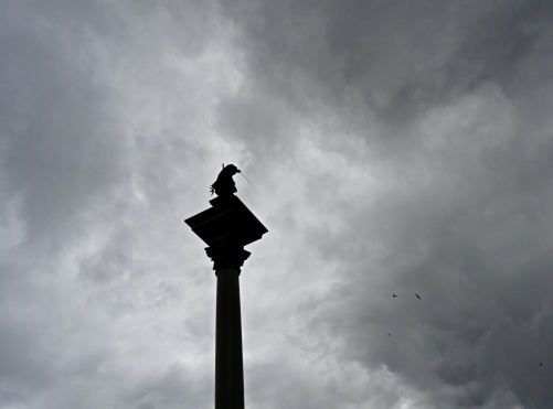 Sigismund III Vasa står staty i Warszawa