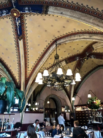 Bild från en av de underbara restauranger vi besökte. Denna fanns i Krakow