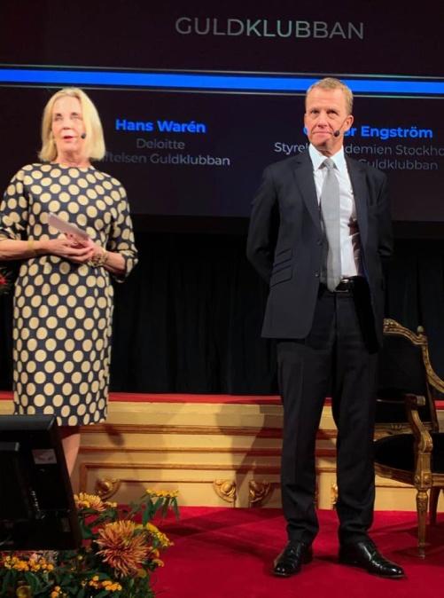 Jag hade äran att tillsammans med Hans Warén, Deloitte, inleda och avsluta evenemanget Guldklubban på Grand Hotell