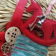 Julgarn Opal 4 trådigt Handfärgat