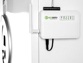 EasyServ mätenhet monteras vid din värmepump, sedan har våra tekniker full koll på den.