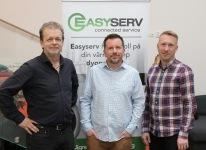 Delägarna i EasyServ Per Ola Persson VD, Lars-Åke Ekstrand Teknisk chef, Jonas ÅkerlundUtv.chef