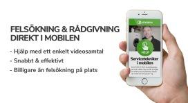 Felsökning och support via mobilen