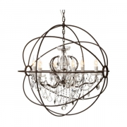ROME CRYSTAL CEILING LARGE ANTIQUE RUST