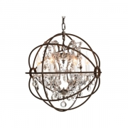 ROME CRYSTAL CEILING ANTIQUE RUST SMALL