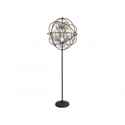 ROME CHANDELIER FLOOR LAMP ANTIQUE RUST