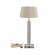 MILAN TABLELAMP BASE NATURAL WOOD