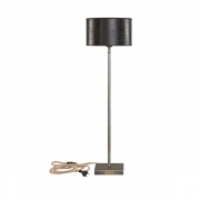 PEWTER LAMPSTAND TABLE HIGH