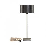 PEWTER LAMPSTAND TABLE LOW