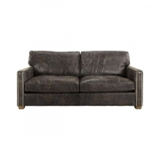 VISCOUNT SOFA LEATHER FUDGE 2-S