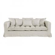 GREENWICH Sofa Linen Sand 3-s