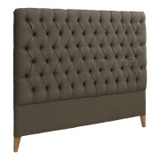 LONDON HEADBOARD LINEN BROWN