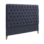 LONDON HEADBOARD LINEN INDIGO