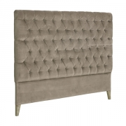 LONDON HEADBOARD VELVET BROWN