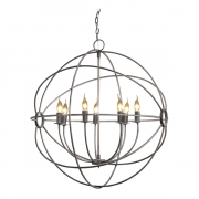 ROME CEILING LAMP STEEL LARGE