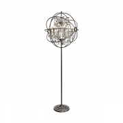 ROME CRYSTAL FLOOR LAMP STEEL